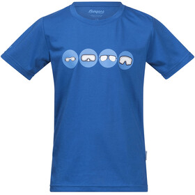 Bergans Goggles Tee Kids Athens Blue/Light Winter Sky